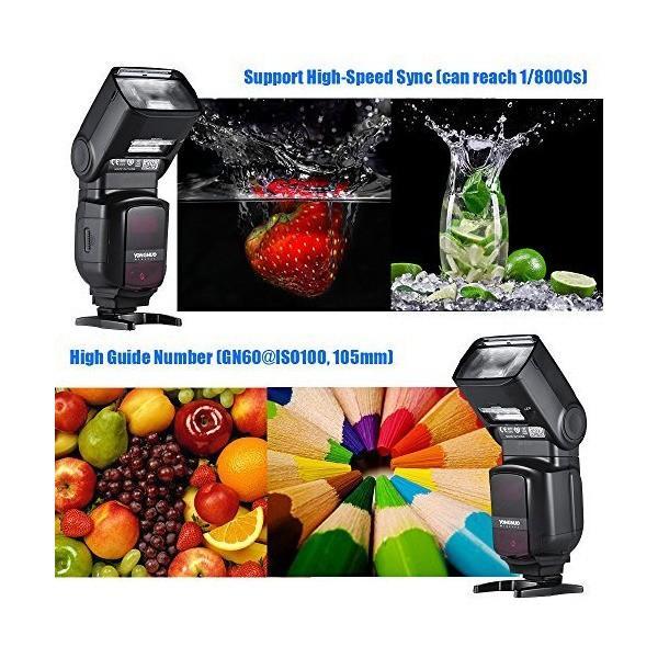 YONGNUO YN968EX-RT フラッシュ スピードライト ワイヤレス TTL マスター 1 / 8000s HSS 内蔵LEDライト And