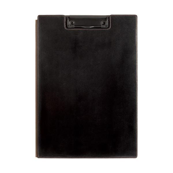 キングジム レザフェス クリップボード A4 カバー付き 黒 1932LF