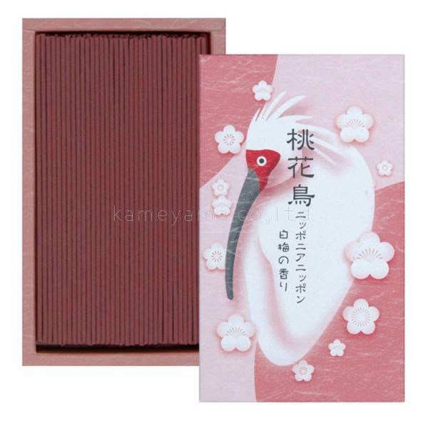 カメヤマ 線香 桃花鳥 (トキ) 白梅の香り
