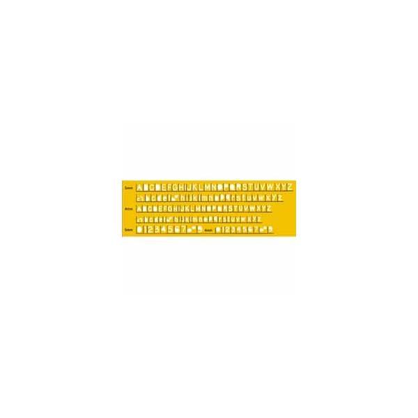 テンプレート 英字数字定規ボールペン用 No.1