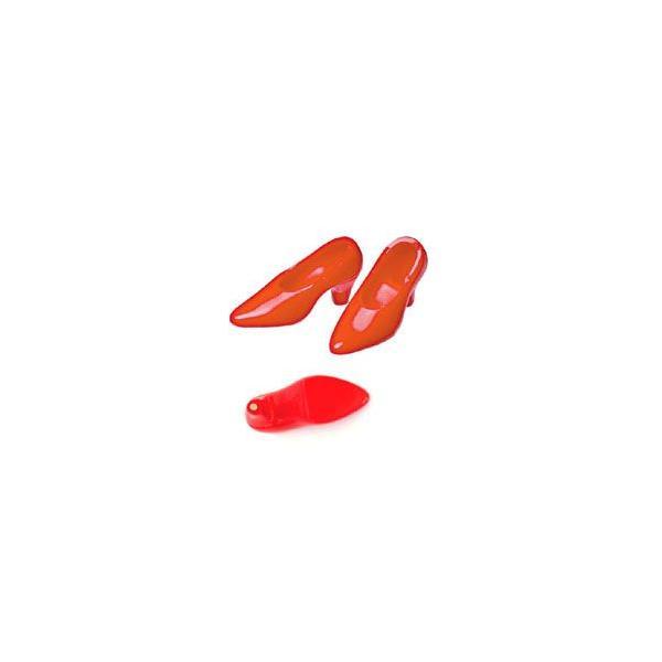 オビツ27オビツドール 27SH-F001R-G ハイヒール 足裏マグネット付き 1足入り 赤靴 シューズ|yumegazai