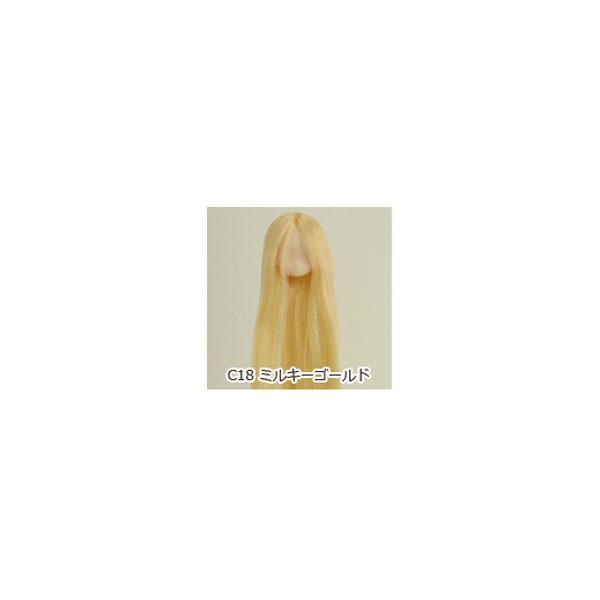オビツ オビツドール 植毛ヘッド 11-01 ホワイティ ミルキーゴールド 人形の頭 ウィッグ 髪の毛付き