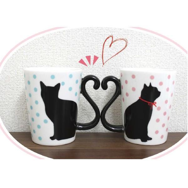 マグカップル 黒猫/ドット (ペアマグカップ)