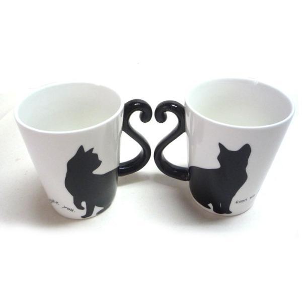 マグカップル 黒猫/シンプル (ペアマグカップ)