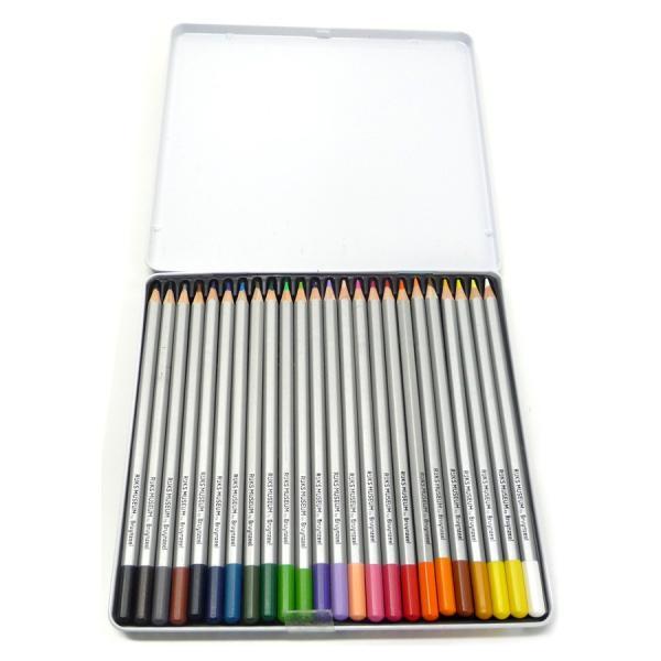 アムステルダム国立美術館×ブランジール 水彩色鉛筆 24色セット 限定パッケージ (ゴッホ×自画像) 筆付き|yumegazai|03