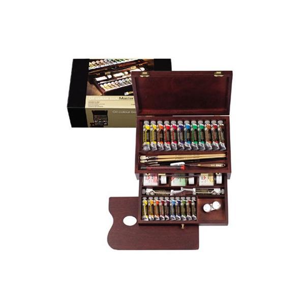 【画材 油絵具】レンブラント 新ラグジュアリーボックス 油絵具 24色セット|yumegazai