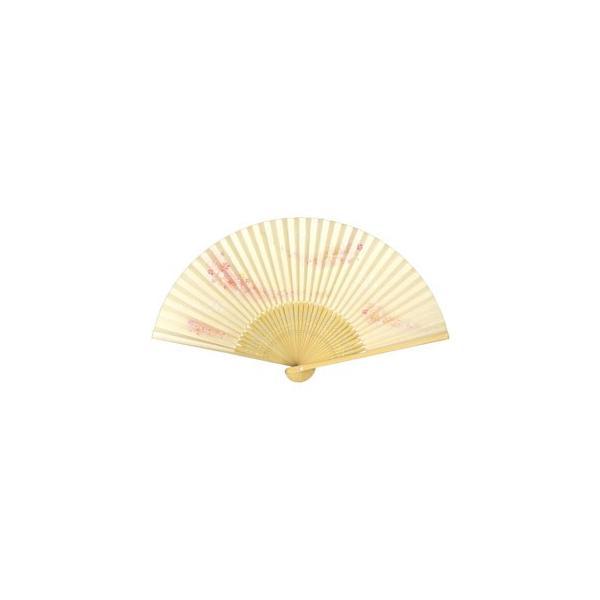 和紙ハーモニー 扇子 65型35間 小花の舞黄|yumegazai
