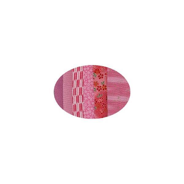 はぎれちりめん (約13×20cm)6枚組 アソート ピンク系|yumegazai