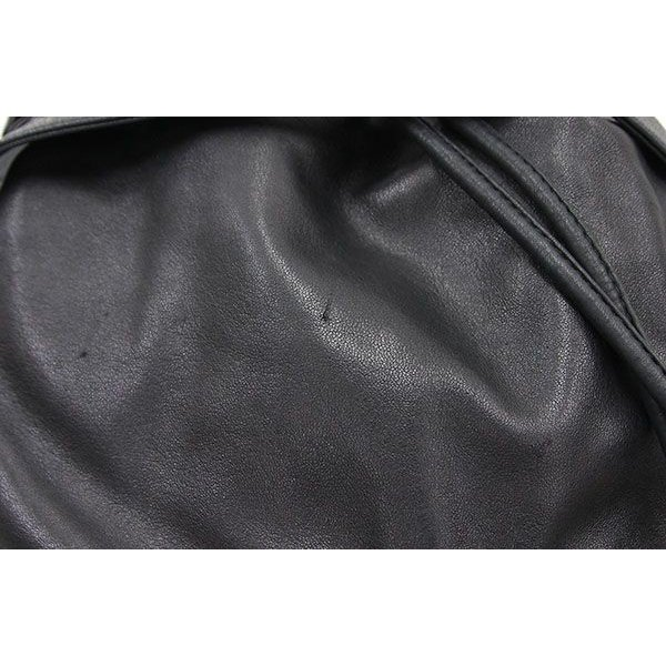 6bca2e122a3f ... シャネル ワンショルダーバッグ ココマーク 巾着 ブラック ラムスキン 中古 チェーンショルダー ゴールド ヴィンテージ オールド レア ...