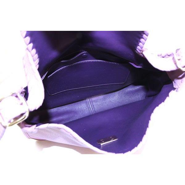 ロエベ ワンショルダーバッグ アナグラム パープルピンク レザー 中古 肩掛け 革 ロゴ入り リザード LOEWE