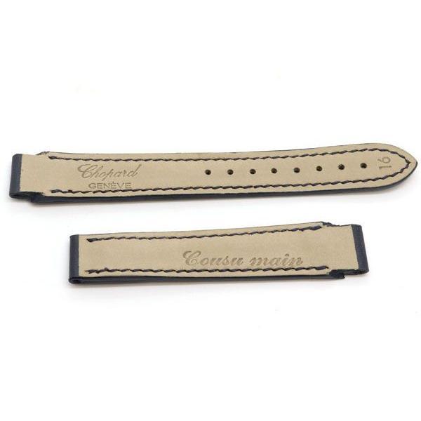 ショパール 替えベルト 純正 ダークネイビー レザー 新品 未使用 紺 革ベルト 時計 腕時計 chopard