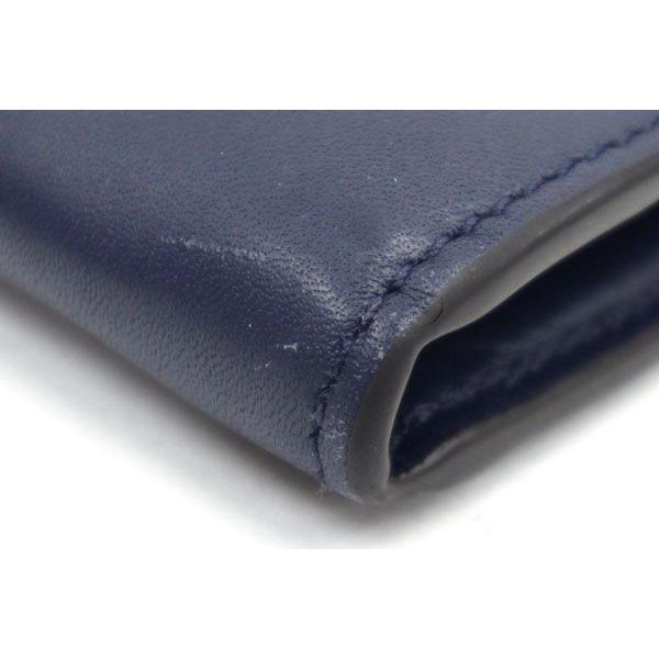 グッチ 二つ折り長財布 シルヴィ コンチネンタルウォレット 476084 ネイビー カーフレザー 中古 ロングウォレット シェリーライン 紺 GUCCI yumeichiba-premium 03