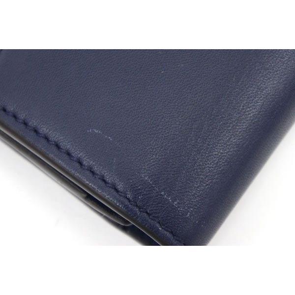 グッチ 二つ折り長財布 シルヴィ コンチネンタルウォレット 476084 ネイビー カーフレザー 中古 ロングウォレット シェリーライン 紺 GUCCI yumeichiba-premium 04