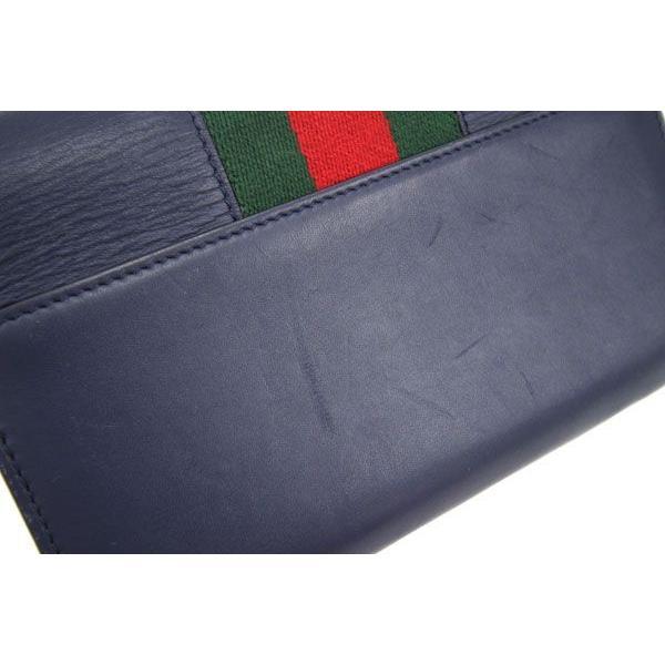グッチ 二つ折り長財布 シルヴィ コンチネンタルウォレット 476084 ネイビー カーフレザー 中古 ロングウォレット シェリーライン 紺 GUCCI yumeichiba-premium 05