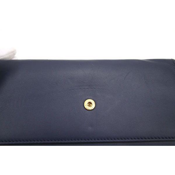 グッチ 二つ折り長財布 シルヴィ コンチネンタルウォレット 476084 ネイビー カーフレザー 中古 ロングウォレット シェリーライン 紺 GUCCI yumeichiba-premium 06