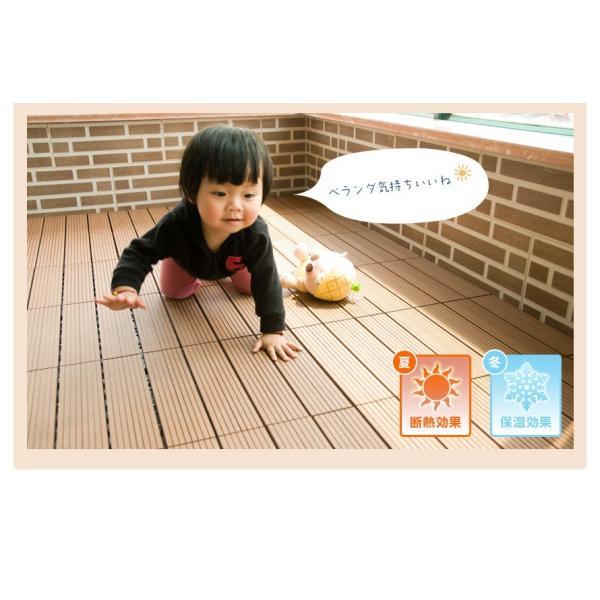 ウッドデッキ 人工木 樹脂 27枚セットウッドパネル 腐らない  北欧 組み立て簡単 ベランダ ガーデン  タイル クステリア|yumeka|05