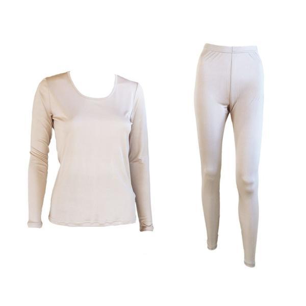 ルームウェア レディース パジャマ シルク100% シンプル 無地 長袖 上下セット 部屋着 3色展開|yumekairo|15
