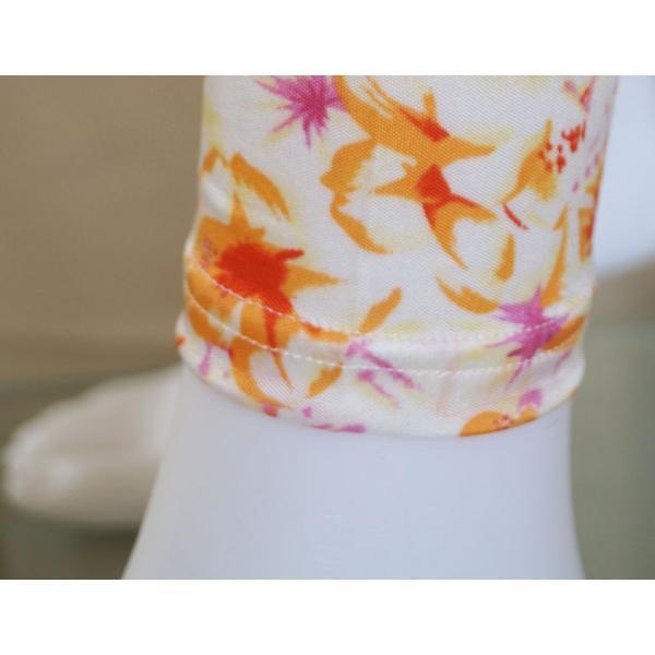 ルームウェア レディース パジャマ シルク100% フラワー・花柄 誕生日ギフト 長袖 部屋着 オレンジ・パープル 送料無料|yumekairo|13