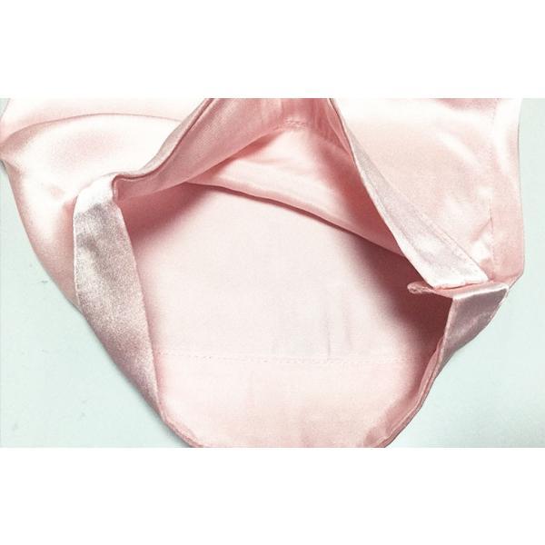 シルクパジャマ ローズピンク 花柄刺繍 100%シルク レディース 絹 長袖 前開き 上下セット 安眠 ナイトウェア ルームウェア 送料無料|yumekairo|10