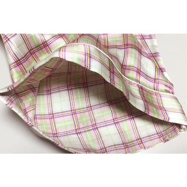 シルク100% レディース シルクパジャマ 絹 長袖 オーバーチェック グレージュ マルチカラー 前開き 上下セット 安眠 ナイトウェア ルームウェア 送料無料|yumekairo|10