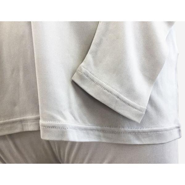 シルクパジャマ ルームウェア メンズ シルク100% スムース 上下セット ベージュ/グレー ストレッチ素材 部屋着 送料無料|yumekairo|11