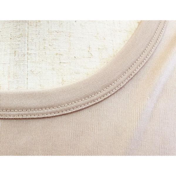 シルクパジャマ ルームウェア メンズ シルク100% スムース 上下セット ベージュ/グレー ストレッチ素材 部屋着 送料無料|yumekairo|10