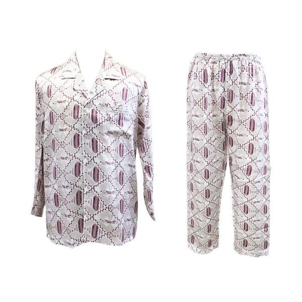 父の日 ギフト シルクパジャマ メンズ 絹100% ミックス柄 還暦祝い ルームウェア プレゼント ライトグレー 男性用 寝間着 誕生日ギフト|yumekairo|12