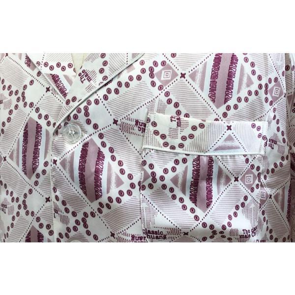 父の日 ギフト シルクパジャマ メンズ 絹100% ミックス柄 還暦祝い ルームウェア プレゼント ライトグレー 男性用 寝間着 誕生日ギフト|yumekairo|09