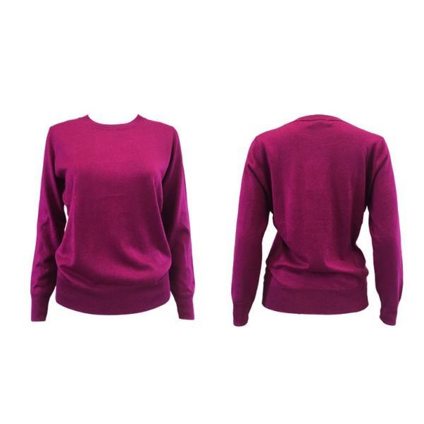 シルクカシミヤ ニット プルオーバー セーター クルーネック シンプル ニットソー ゆるシルエット 5色|yumekairo|20