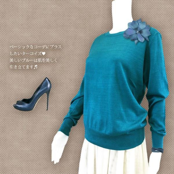 シルクカシミヤ ニット プルオーバー セーター クルーネック シンプル ニットソー ゆるシルエット 5色|yumekairo|06
