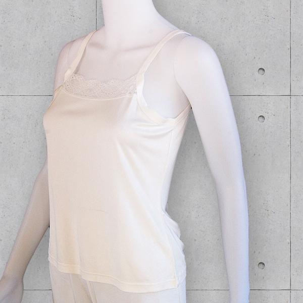 シルク100%キャミソール 胸元レース付き ストレッチ生地 ステージ衣装の見せるインナー カラバリ4色 メール便 送料無料|yumekairo|06