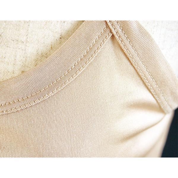 シルク キャミソール 絹100% スムース インナー シンプル カラフル カラバリ7色 M〜XL ミディアム丈 メール便 送料無料|yumekairo|10