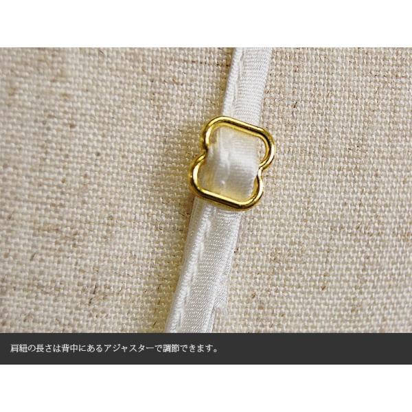 スリップ  レース付き シルク100% チュールレース サテン 白/ホワイト ドレスインナー 他カラバリ3色 メール便 送料無料|yumekairo|11