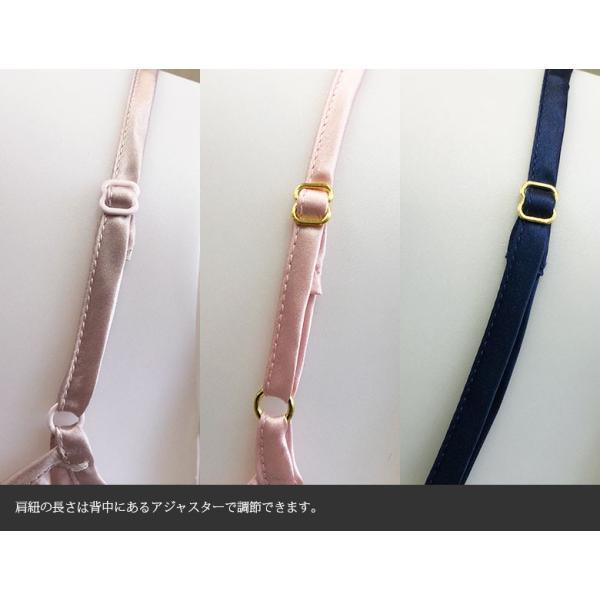 スリップ ドレスインナー サテン インナー ネグリジェ ナイトウェア 胸元ギャザー シルク100% シルクスリップ フリーサイズ 3色 メール便 送料無料|yumekairo|14