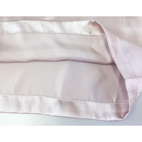スリップ ドレスインナー サテン インナー ネグリジェ ナイトウェア 胸元ギャザー シルク100% シルクスリップ フリーサイズ 3色 メール便 送料無料|yumekairo|16