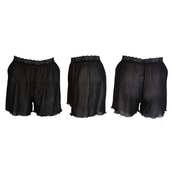 ペチコートパンツ シルク100% ウエストレース付き ストレッチ生地 黒 白 カラバリ2色 ミニスカートやワンピのインナーに メール便 送料無料|yumekairo|14