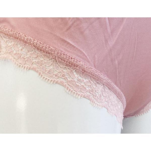 母の日ギフト ショーツ シルク100% レディース ストレッチレース 下着 絹 ふちレース スタンダード 4色 冷えとり 乾燥肌 吸汗速乾 メール便 送料無料|yumekairo|16