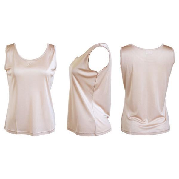 シルク シンプル タンクトップ 絹100% レディース 天然素材で肌に優しい 紫外線対策に! カラバリ5色 ギフト メール便 送料無料|yumekairo|14