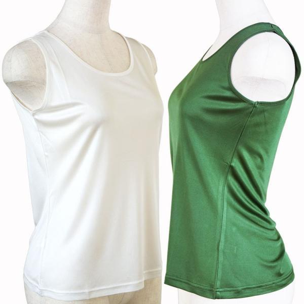 シルク シンプル タンクトップ 絹100% レディース 天然素材で肌に優しい 紫外線対策に! カラバリ5色 ギフト メール便 送料無料|yumekairo|05