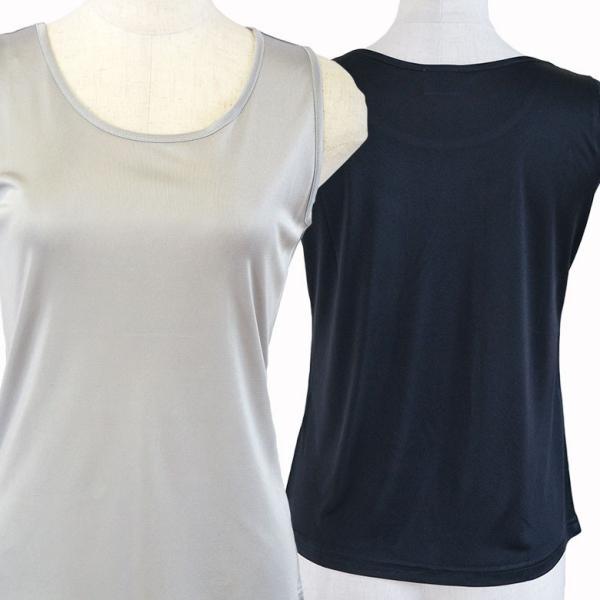 シルク シンプル タンクトップ 絹100% レディース 天然素材で肌に優しい 紫外線対策に! カラバリ5色 ギフト メール便 送料無料|yumekairo|06