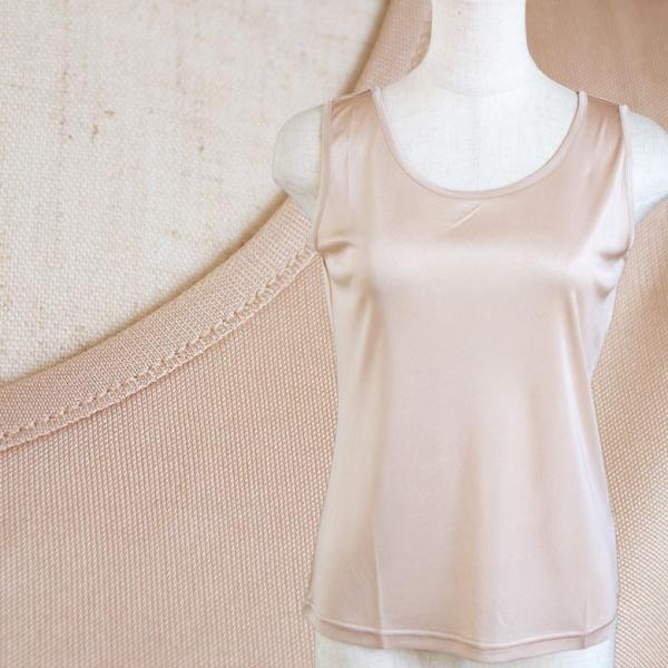 シルク シンプル タンクトップ 絹100% レディース 天然素材で肌に優しい 紫外線対策に! カラバリ5色 ギフト メール便 送料無料|yumekairo|07