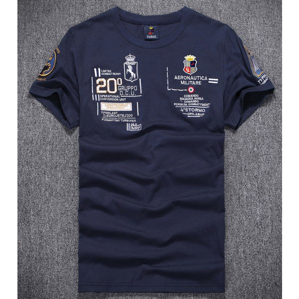 Tシャツ メンズ アメカジ 半袖 刺繍Tシャツ ロゴT カットソー クルーネック メンズTシャツ|yumekakaku|03