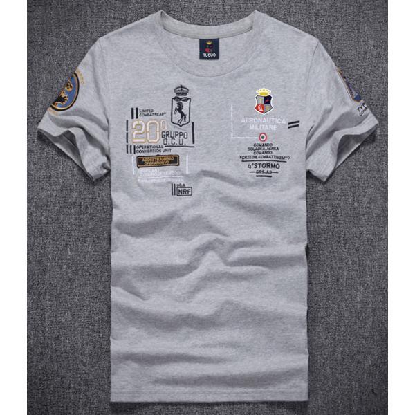 Tシャツ メンズ アメカジ 半袖 刺繍Tシャツ ロゴT カットソー クルーネック メンズTシャツ|yumekakaku|04