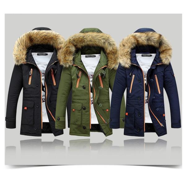 メンズ 中綿ダウンジャケット コート 中棉 ジャケット 毛皮 無地 ファッション スリム|yumekakaku|02
