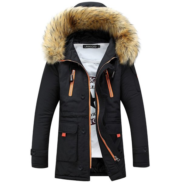 メンズ 中綿ダウンジャケット コート 中棉 ジャケット 毛皮 無地 ファッション スリム|yumekakaku|03