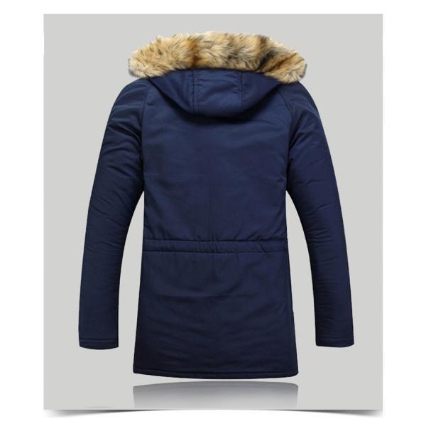 メンズ 中綿ダウンジャケット コート 中棉 ジャケット 毛皮 無地 ファッション スリム|yumekakaku|06