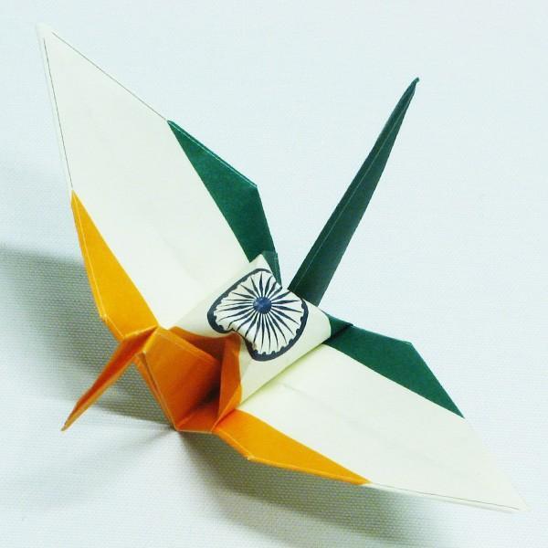 【インド】 国旗折り鶴 折り紙おりがみ おりづる 国旗のデザイン 計50枚 ギフト 留学 お土産 伝統 紹介 知育玩具|yumenetshop