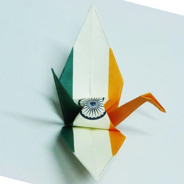 【インド】 国旗折り鶴 折り紙おりがみ おりづる 国旗のデザイン 計50枚 ギフト 留学 お土産 伝統 紹介 知育玩具|yumenetshop|02