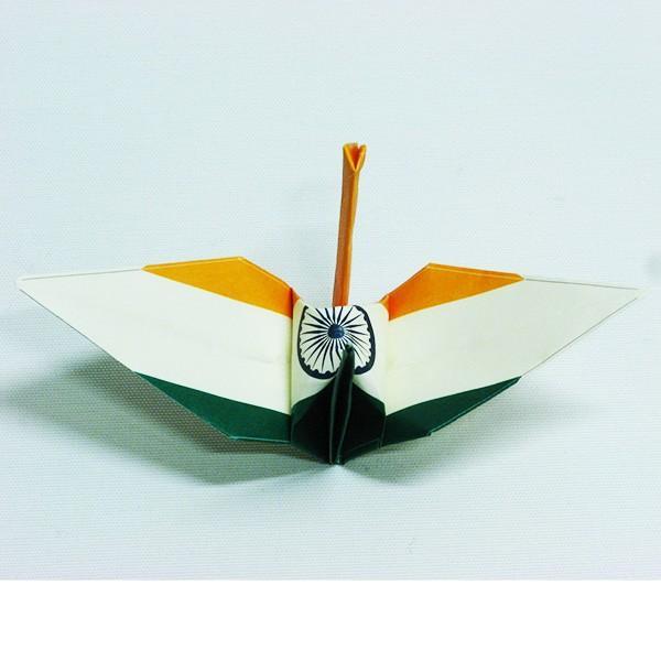 【インド】 国旗折り鶴 折り紙おりがみ おりづる 国旗のデザイン 計50枚 ギフト 留学 お土産 伝統 紹介 知育玩具|yumenetshop|03