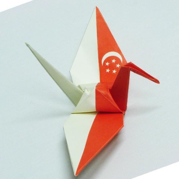 【シンガポール】 国旗折り鶴 折り紙おりがみ おりづる 国旗のデザイン 計50枚 ギフト 留学 お土産 伝統 紹介 知育玩具|yumenetshop|02
